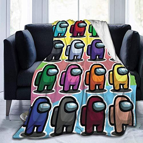 XCNGG Am-o-n-g U-s Manta de Forro Polar Súper Suave y cálida, Felpa Ligera y Suave, Mantas de sofá, Manta para niños, Adolescentes, Hombres, Mujeres, 50 'x 40'