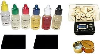 PuriTEST Brand Identify Gold Sterling Silver-6 Testing Bottle KIT-Scale-Eye Piece