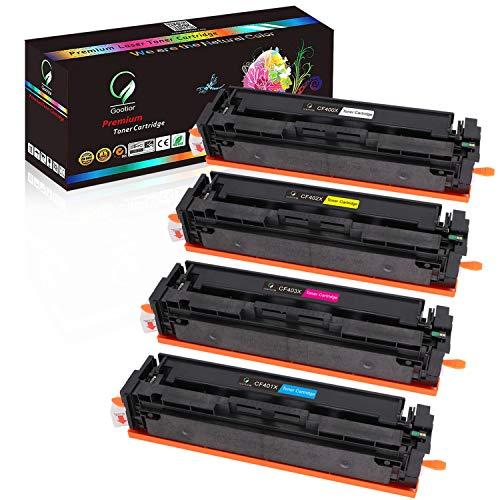 [Spielraum ] Gootior 201X CF400X Kompatibel Toner für HP 201X 201A CF400X CF400A für HP Color Laserjet Pro MFP M277dw M277n M277c6 M277 M274n M252dw M252n CF400X CF401X CF402X CF403X, Tonerkartusche