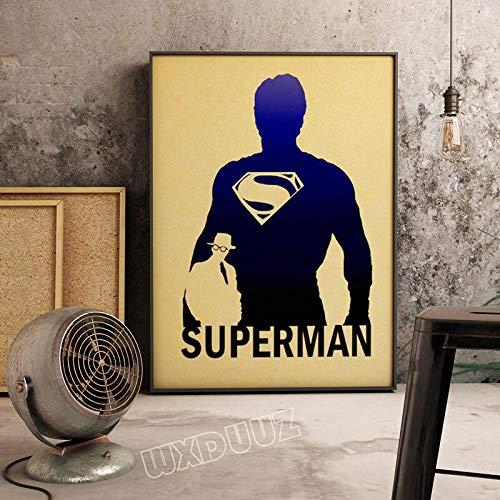 SDFSD Einfache Bunte amerikanische Superheld Filmfigur Cartoon Poster für Kinderzimmer Schlafzimmer Wandkunst Bild Leinwand Malerei 30 * 40cm X.