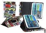 Emartbuy® LG G Pad 2 10.1 Tablet 10.1 Zoll Universal (9-10 Zoll) Retro Kassette 360GradRotierendeStandFolioGeldbörseTascheHülle + Eingabestift
