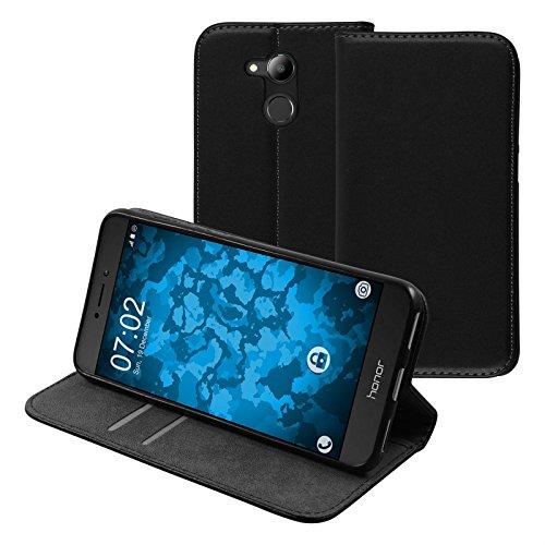 PhoneNatic Kunst-Lederhülle kompatibel mit Huawei Honor 6C Pro - Book-Hülle schwarz Cover