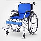 Dljyy Multi-Función sillas de Ruedas Home Care Seguridad, Ancianos portátil Silla de Ruedas de la Carretilla Plegable de Almacenamiento de Movilidad Reducida
