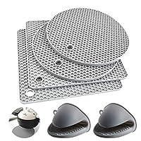 lucy 4 pcs tappetini sottopentola in silicone,sottopentole multiuso,sottopiatto termico resistente al calore,sottobicchieri,sottopentola,tappetino in silicone premium,silicone hot pads,sottobicchiere