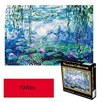 HONGYU スイレン「」モネ、世界的に有名な絵画のパズル、1000錠個箱入り写真のおもちゃ、大人&キッズジグソーパズルのおもちゃ