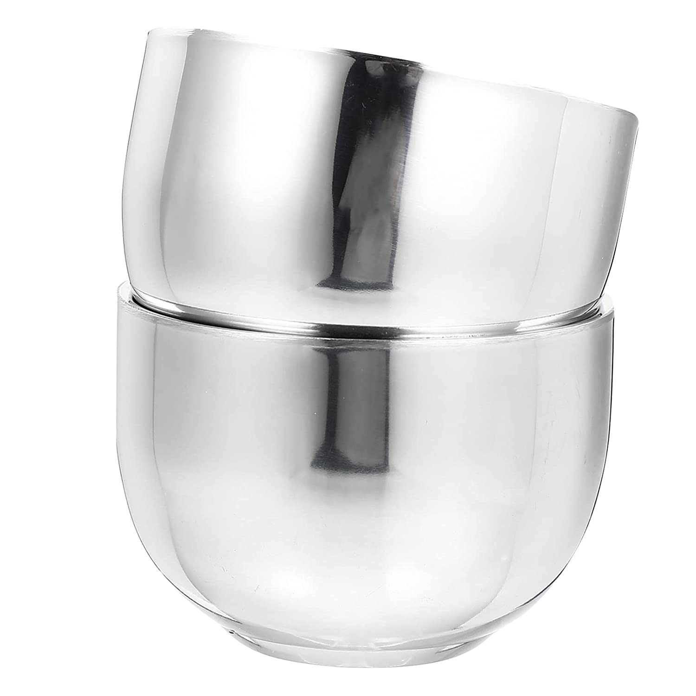 Lurrose 2pcs Men Max 41% OFF Shaving Bowl Soap Stainless Steel Direct stock discount Brush