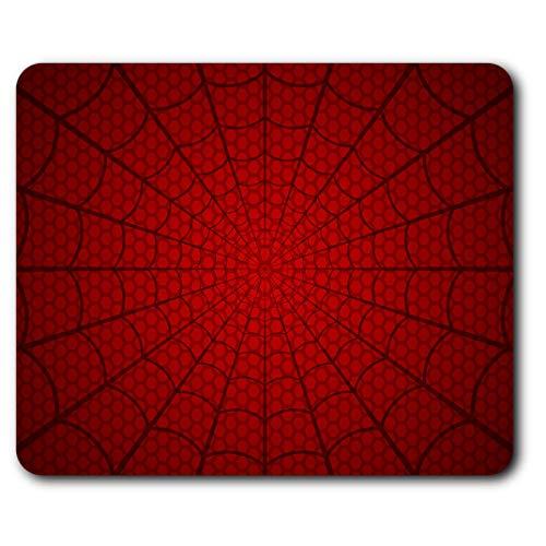 Confortable Tapis de Souris - Red Spider Web Man Super-héros Enfants Ados 23,5 x 19,6 cm (9,3 x 7,7 Pouces) pour Ordinateur et Portable, Bureau, Cadeaux, Base antidérapante - RM24241