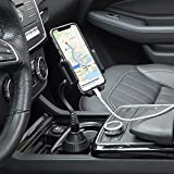 Phone Holder for Car-Upgraded MOTOBA Cup Holder Phone Mount-Gooseneck Car Phone Holder -Universal Cell Phone Holder -Car Cradle-for iPhone 12 Pro Max/11/XR/XS/X/8 Samsung S20 Ultra/Note 20 (Black)