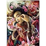 Rompecabezas 1000 Piezas Puzzle De Madera Dragón Y Patrón De Belleza, Patrón De Belleza Sexy Japonés Decoraciones Familiares, Regalo De Cumpleaños Único Adecuado Para Adolescentes Y Adultos