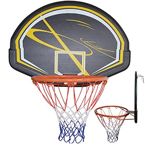 ATGTAOS Obręcz do koszykówki + zestaw tablic do koszykówki 79 * 56 cm, przenośny system bramek do koszykówki, wewnątrz na zewnątrz wiszący bramka do koszykówki z siatką na każdą pogodę montowany na ścianie obręcz do koszykówki