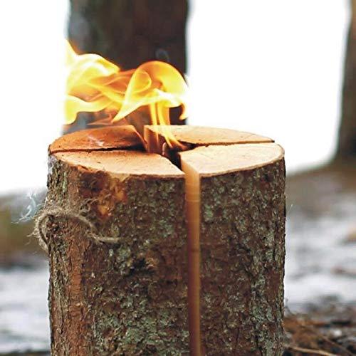 NOOR Schwedenfeuer Schwedenfackel Höhe 25 cm Durchmesser 17-24 cm Flammender Outdoor-Spass bis zu 4 Stunden