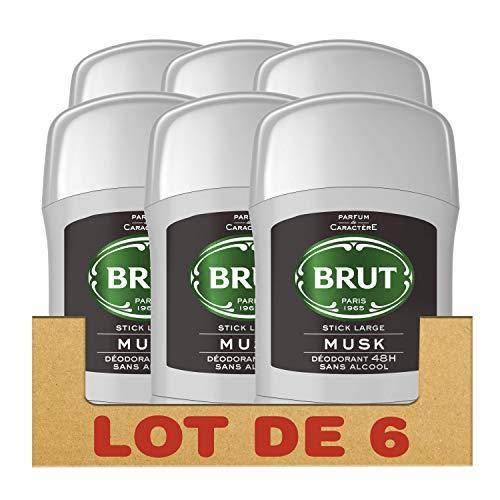 Brut - Desodorante Stick Musk (6 x 50 ml)