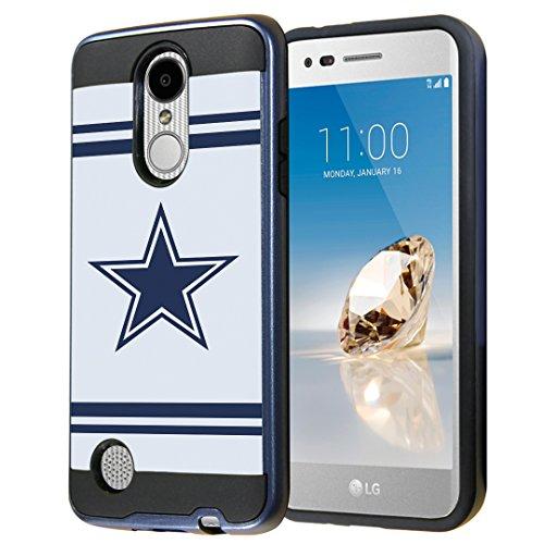 Capsule Case for LG Aristo, Fortune, Phoenix 3 [Cute Dual Layer Heavy Duty Slim Protection Tough Case Black Blue] for LG Aristo, K4 2017, K8 2017 - (Cowboy)
