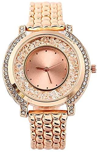 JZDH Mano Reloj Reloj de Pulsera Mujer de Acero Inoxidable Reloj de Cuarzo de Lujo Relojes de Lujo Vestido de Pulsera Relogio Reloj Mujeres Reloj Mujer Relojes Decorativos Casuales