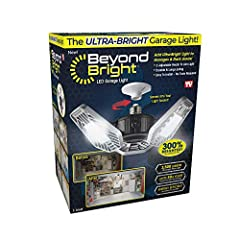 LED LIGHT: Beyond Bright the ultra-bright LED light that brightens up any space! This energy efficient lighting fixture produces 300% more light than the standard 60-Watt light bulb. EASY INSTALLATION: Features quick & easy installation. No tools, no...