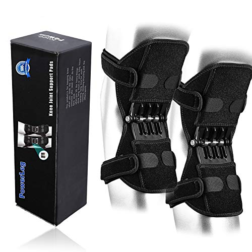 CFR Power Knee Brace,2 Packs Booster Power Lift Support with Powerful Springs for Men Women Knee Osteoarthritis, Squat, Mountaineering,Exercising