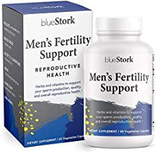 Blue Stork Men's Fertility Support: Fertility Multivitamin for Men, Horny Goat Weed to Support Fertility for Men, Sperm Production + Reproductive Health, 60 Vegetarian Capsules