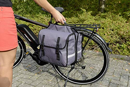 Fischer Fahrrad 50322 Gepäckträgertasche Grau