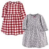 Hudson Baby Girl's Cotton Dresses, Snowflake, 18-24 Months