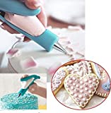 Kitchen Pacific Cake Decorating Tips Pen,Icing Piping Tool Kit Set With Big and Small X4 different tips- X4 Nozzles Icing bagX 2 coupler, Stainless steel piping/Dispenser Nozzles Pen Set