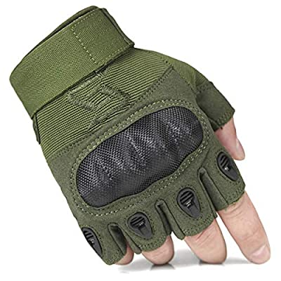 FREE SOLDIER Outdoor Half Finger Safety Heavy Duty Work Gardening Cycling Gloves