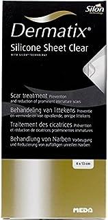 Patterson Medical Dermatix - Tratamiento para cicatrices (láminas de silicona de 4 x 13 cm), transparente