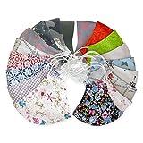KateMotiveShop Gesichtsmaske Floral Series - Mundschutz Stoffmaske, Maske für Kinder und Erwachsene, 2-lagig, verschiedene Farben, Große Auswahl
