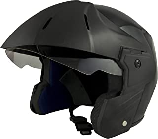 Benz Ultra Power (ISI Certified) Open Face Helmet (Black Glossy) (Small)