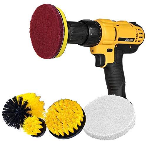 HelloCreate 6 piezas/juego de taladro, accesorio de cepillo Power Scrubber, cepillo de limpieza para suelos de baldosas, mortero de mármol