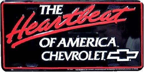 """The Heartbeat Of America Chevy Chevrolet Truck 6/""""x12/"""" Aluminum License Plate Tag"""