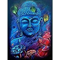 5Dダイヤモンド絵画フルキット青い彫像ラインストーン刺繡クロスステッチキットリビングルームの寝室の家の装飾のためのDIY手作りモザイクキャンバスアート