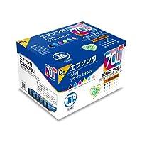JIT リサイクルインク エプソン IC6CL70L(増量) 6色セット対応 JIT-E70L6P 箱にキズ、汚れのあるアウトレット品です。