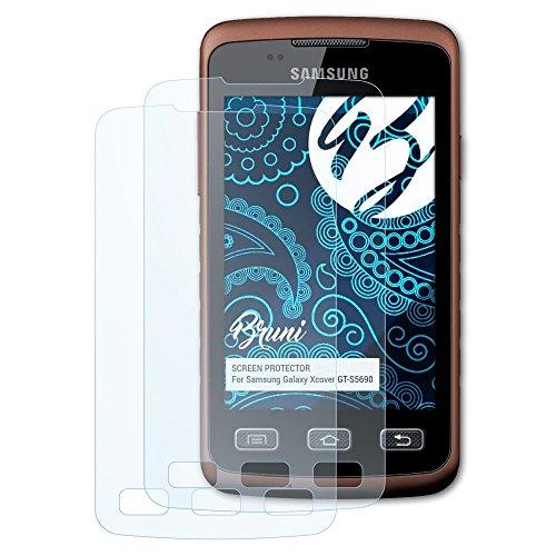 Bruni Schutzfolie kompatibel mit Samsung Galaxy Xcover GT-S5690 Folie, glasklare Displayschutzfolie (2X)