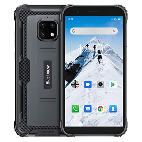 Blackview BV4900 Rugged Smartphone (2020), IP68 Impermeabile, Dual SIM 4G Android 10.0 Cellulare Militare HD+ da 5,7 Pollici, 3GB RAM+32GB ROM 128 GB Expandable, 5580mAh, GPS, NFC