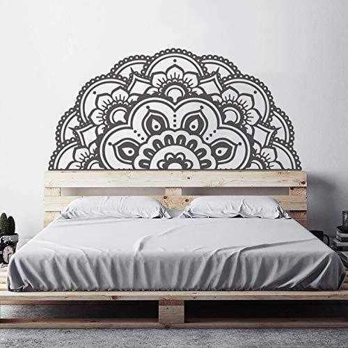 Media mandala pared calcomanía hogar dormitorio coche ventana decoración creativo mandala flor pared pegatina papel tapiz regalo A3 87x42cm