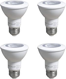 LED PAR20 Light Bulbs 7W (50W Equivalent) 25,000 Hours Dimmable 500 Lumens 3000K (Soft White) E26 Base Flood Light Bulbs (4 Pack)