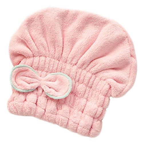 Pratique bonnet pour les filles/belle bonnet de douche, rose clair bowknot