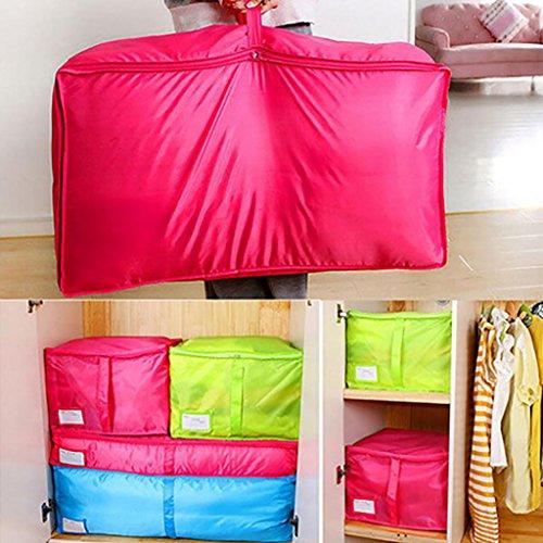 Bluelans Teenxful Grande Parure de lit Sac de Rangement Vêtements Boîte de Rangement pour Couverture de lit avec oreillers de placards Pouch, Tissu Oxford, Bleu, Small
