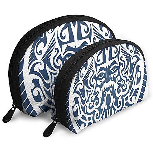 Le Dieu de la mer Concept en Forme Int Poseidon Cosmetic Bags Pochette de Maquillage en Tissu imperméable Cosmetic and Organizer Bag Sac de Toilette Portable