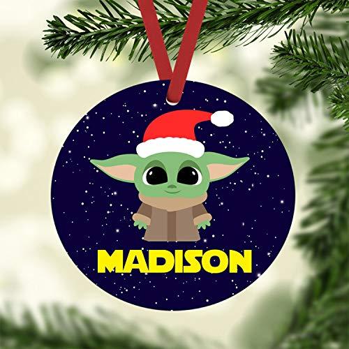 None-brands Weihnachts-Ornament 2020 Weihnachtsmann Yoda Baby Custom Hänge-Zubehör