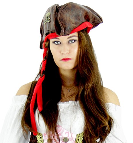 Foxxeo Piraten Hut für Erwachsene – Damen und Herren Piraten Mütze zu Fasching Karneval Motto-Party