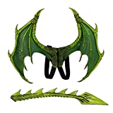 Himine Dragon Wings Props Cosplay Wing with Tail (Green)