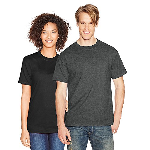 Hanes Beefy-T Adult Short-Sleeve T-Shirt_Charcoal Heather_2XL