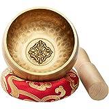 CAHAYA Tibetische Klangschale 9,5cm Singing Bowl Klangschalen Set mit Klöppel...
