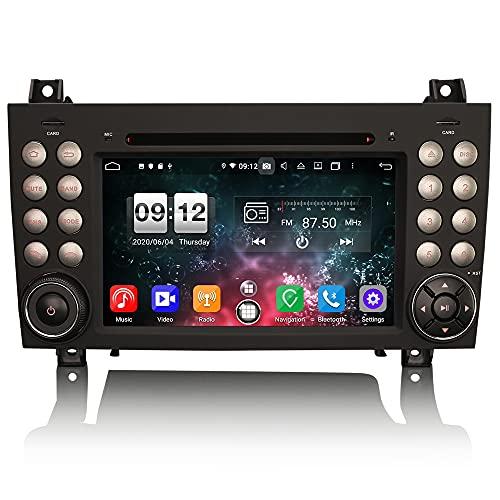 ERISIN Autoradio Android 10 per Mercedes-Benz Classe SLK R171 SLK200 Supporto GPS Sat Nav Carplay Android Auto DSP Bluetooth Wifi 4G DAB + TPMS DVB-T / T2 8-Core 4GB RAM + 64GB ROM