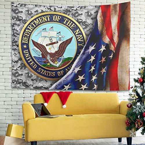 Ballbollbll Tapiz de la bandera americana de EE. UU., diseño de bandera de Estados Unidos, en decoración de dormitorio, manteles, para colgar en la pared, blanco, 101,6 x 149,9 cm