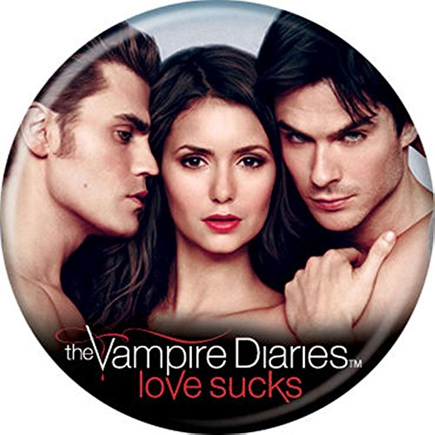 Vampire Diaries - Stefan Elena Damon - Pinback Button 1.25