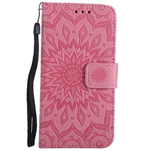 Ysimee Compatible con LG G3, Funda Cuero PU LG G3, Funda Cartera LG G3, Funda Billetera Flip Cover con TPU Case Interna,Carcasa en Libro, Ranuras para Tarjetas, Soporte Plegable para LG G3-Rosa