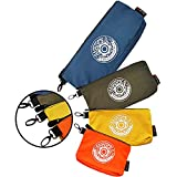 IRONLAND Canvas Tool Bags ,Tool pouch With Zipper,Small Tool Bag Organizer with Carabiner,Utility Bags in Blue, Olive, Orange, Yellow (7/9/10/12 Inch)