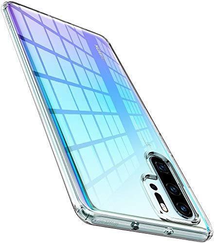 Spigen Liquid Crystal Kompatibel mit Huawei P30 Pro Hülle Transparent TPU Silikon Handyhülle Durchsichtige Schutzhülle Huawei P30 Pro Case, Crystal Clear